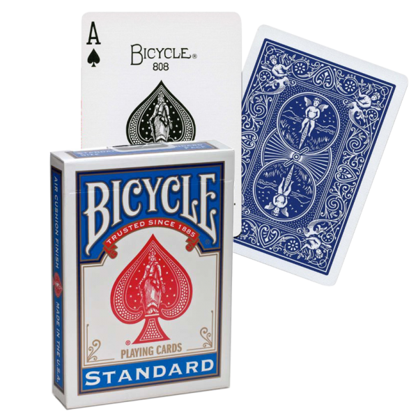 Jeu cartes bicycle standard bleu